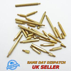 Male-Female M3 Spacer Thread Pillar Hexagonal Brass PCB Studs Standoff Hex