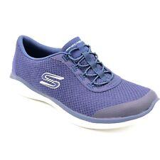 Skechers Envy Womans Bungee Slip On Sneakers Sz 8 Navy Blue Memory Foam Insoles