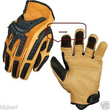 "MECHANIX WEAR FULL LEATGHER GLOVES  ""WORK -SPORT - RIDING""  {LARGE}  CG50-75-010"