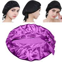 100% Silk Sleep Cap Hat Sleeping Bonnet Hair Styling Protect Head Wrap Scarves#