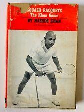 Vintage Squash Racquets The Khan Game Hashim Khan HCDJ 1st1967