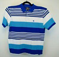 Southpole Short Sleeve Men's X-Large Golf/Polo Style Shirt Blue w/White Strips