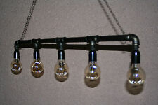 Industrial Vintage Ceiling Lights Chandelier Metal Pipe Retro Loft Pendant Lamps