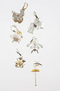 Links of London Sterling Silver Gold Plated Sheep Bee Flower Charms Lot 5 LL19LL