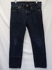 "H & M sz 32/32 ""STRAIGHT REGULAR WAIST""  BLUE JEANS measures 32"" x 30"" (#DS68)"