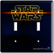 Star Wars Deep Space Dark Logo Emblem Double Light Switch Wall Plate Cover Vader