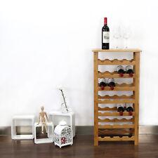 New listing Bamboo Wine Rack 28-Bottle Storage Kitchen Home Decor Bar Display Shelves Holder