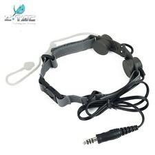 Z-tactical Throat Mic Headset Portable Radio Airsoft PTT w/Tube Earpiece Z033 FG