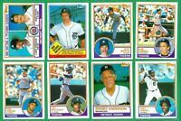 1983 TOPPS DETROIT TIGERS TEAM SET NM/MT  SPARKY  GIBSON  WHITAKER  TRAMMELL