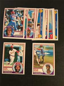1983 OPC O-Pee-Chee St. Louis Cardinals Team Set 15 Cards Willie McGee RC