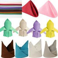 """20"""" Wedding Polyester Napkins Party Table Linens Top Decoration Dinner Supply"""