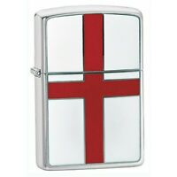 Zippo Genuine St. George Flag Emblem Windproof Cigar Cigarette Tobacco Lighter