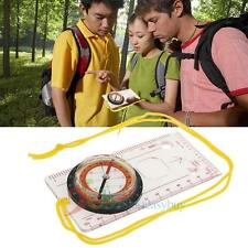 Mini Multifunctional Tactical Outdoor Compass Plotting Scale Magnifier Tool