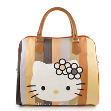 Hello Kitty Head Flowers Carry Travelling Bag Zipper Women Hand Bag Gift Big 18""