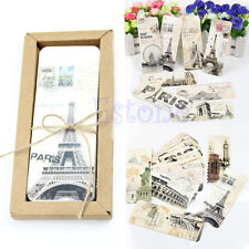 30pcs European Different Scenes Vintage France Paris Eiffel Tower Bookmark Set