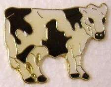 Hat Lapel Pin Scarf Clasp Animal Dairy Cow NEW