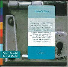 Genesis PETER GABRIEL Secret World EDIT PROMO DJ CD Single SEALED w/ TOUR DATES