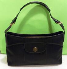 PAUL SMITH Baguette HANDBAG Black Canvas/PVC/Leather Rare Auth.
