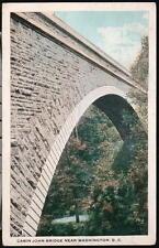 WASHINGTON DC Cabin John Bridge Potomac River Aquaduct System Vintage Postcard A