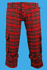 Red Tartan Stewart Seditionaries Bondage Shorts, wrap around zipper, bag pockets