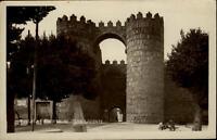 Ávila Espana Tarjeta Postal ~1930/40 Puerta de la San Vicente Tor der Stadtmauer