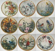 Lenox The Nature's Cottage Collection Plate Catherine McClung Bird Set 8 + 1 Coa