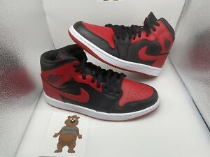 Nike Air Jordan 1 Mid Banned Size 9.5 554724-074 In Hand New With Box