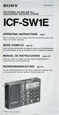 SONY ICF-SW1E RADIO ORIGINAL OPERATING INSTRUCTIONS