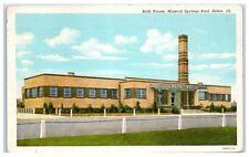 1945 Bath House, Mineral Springs Pool Pekin, IL Postcard