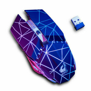 UK Wireless Rechargeable Mice Gaming Mouse Optical USB 1600 DPI LED Backlit Mice
