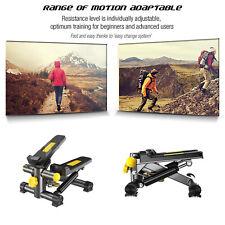 Máquina de Step para Fitness, Swing Stepper con Ordenador y Cuerdas Ministepper