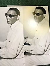 2 New Black and White Photo Postcards Ray Charles, beloved musician, 1960