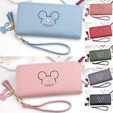 Womens Large Wallet Minnie Mouse Clutch Handbag Purse Phone Change Card Holders
