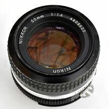 Nikon Nikkor 50mm f/1.4 AI Sup'r Sh'p Manual Focus Lens. Exc++. See tst pics.