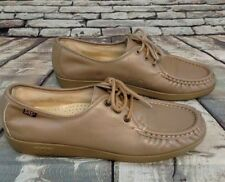 SAS Women's Light Brown Shoe Genuine SAS Handsewn Made in USA Lace Up Oxford 10