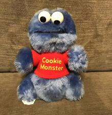 """Vintage 1983 Playskool Sesame Street Cookie Monster 7"""" Plush Stuffed Animal"""