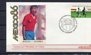 S13579) Mexico 12.6.1986 FDC Fifa Wc Football Spain Algeria