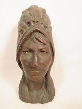 Antique Bronze Indian Head Hood Ornament? Estate Sale Barn Find Highly Detailed