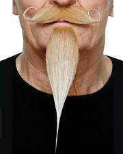 Blonde Moustache And Goatee One Size