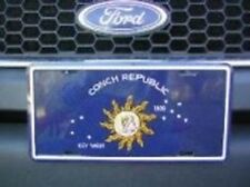 "Blue Key West Conch Republic Florida Auto Car Tag Aluminum License Plate 6""x12"""