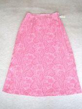 NEW Talbots Hot Pink Paisley Skirt Petite 10 10P 100% Pure Silk Beautiful! NWTS