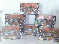 Lot Vintage Maisto 1:18 Harley-Davidson Motorcycles Series 2 Complete Set, NEW