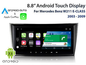 """Mercedes Benz W211 E-Class 8.8"""" Touch display unit with CarPlay & Android Auto"""