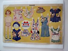 "Vintage Advertising Paper Doll for ""Minneapolis Garments"" ""Miss Minne Apolis"" *"