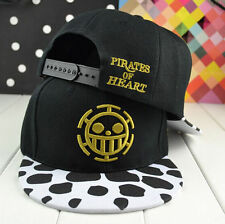 Men Pirates of heart cartoon ONE PIECE hip-pop snapback hat adjustable BBOY cap