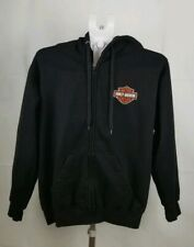 Women's Platinum Waves Harley Davidson Embroidered Patch Full Zip  Hoodie Size S