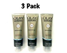 3️⃣ Pack Olay Scrubs Detoxifying Vitamin C Black Charcoal 5in1 Clean, 4.2oz each