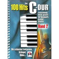 100 Hits in C-Dur Band 2 - Noten für Keyboard, Klavier, Gitarre 7743