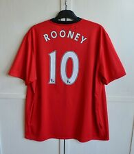 MANCHESTER UNITED #10 ROONEY 2009/2010 HOME FOOTBALL SHIRT JERSEY NIKE SIZE 3XL