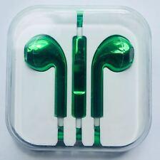 Green Chrome Headphones For Iphone Earphones Handsfree For Earpods Mic SONY HTC